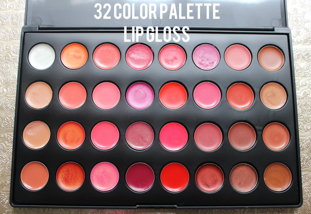 32 Color Lip Gloss Palette
