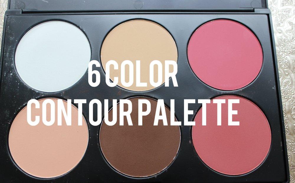 6 Color Contour and Blush Palette